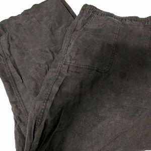Allen Allen Pants - Allen Allen 3x black linen pants