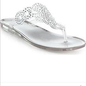 Stuart Weitzman Shoes - Stuart Weitzman Mermaid Crystal Jelly Thong Sandal