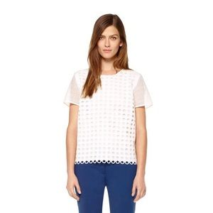Judith & Charles White Eyelet Blouse Top