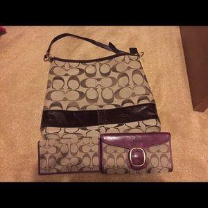 Handbags - Coach purse, wallet, checkbook cover