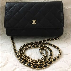 CHANEL Handbags - Chanel WOC Wallet On Chain Caviar Gold Hardware