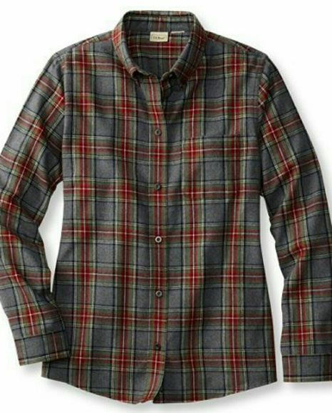 21bafc5bea L.L. Bean Tops | L L Bean Scotch Plaid Flannel Shirt Womens | Poshmark