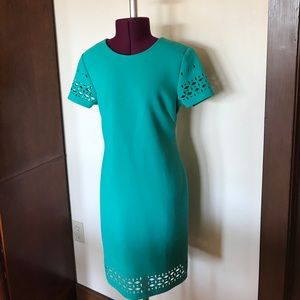 Banana Republic Green Cut Out Dress 0 NWT