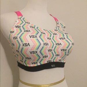Victoria's Secret Other - VSX VS SPORTS BRA white and rainbow