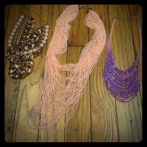Three statement necklaces