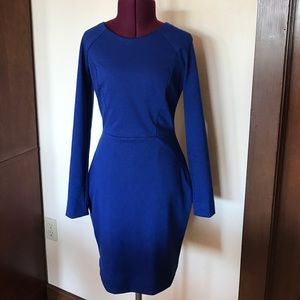 Banana Republic Blue Long Sleeve Dress 0 P NWT