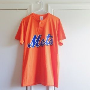 Vintage Tops - Mets Orange Vintage Tee
