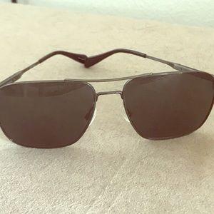 Oliver Peoples Accessories - Oliver Peoples Gunmetal/Black Aviator Sunglasses