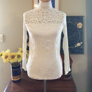 Who What Wear Tops - Vintage Style Crochet Blouse By Who What Wear