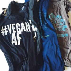 vegan 🌿 message tee shirt bundle