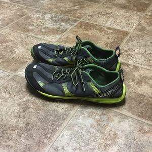 Merrell Other - Merrell Vapor Glove BareFoot Shoe Black/Lime 9.5