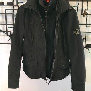 BOSS ORANGE Jackets & Blazers - BOSS Orange black jacket with tie belt