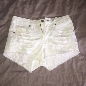 Dollhouse Pants - White High Rise Shorts