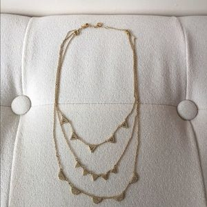 Stella & Dot Jewelry - Stella & Dot Pave Chevron Necklace - Gold.