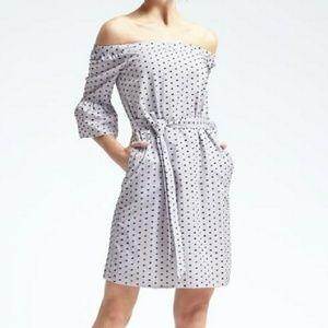Dresses & Skirts - BANANA REPUBLIC Polka Dot Dress
