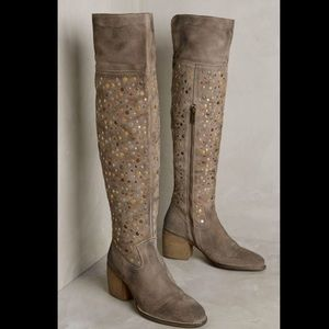 Anthropologie Shoes - Anthropologie Suede Studded Over The Knee Boots