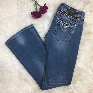 Miss Me Flap Pocket Blue Light Wash Bootcut Jeans
