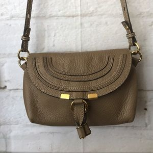 Chloe Marcie Pouchette Mini Leather Crossbody Bag