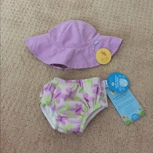 I Play Other - i play hat and swim diaper