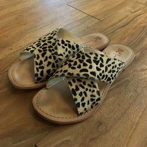 *Cheetah Cross Strap Sandal*