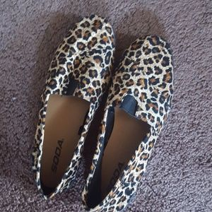 Soda Shoes - cheetah print flats 6.5 womens