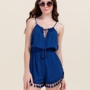 Francesca's Collections Other - Francesca's Emilia Tassel Fly Away Romper COVER-UP