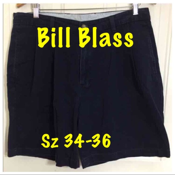 Bill Blass - Bill Blass Navy Blue Walking Shorts Size 34-36 from ...