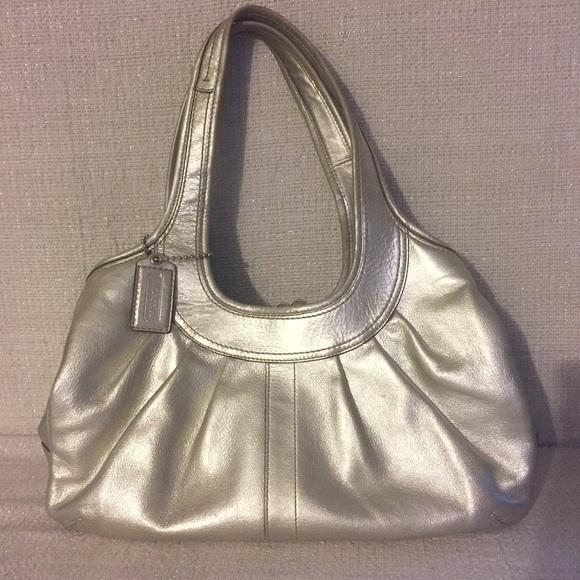 a0d3cb751 ... shop coach ergo metallic leather kiss lock hobo b4415 78436
