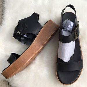 brash Shoes - BACK IN STOCK black platform sandal