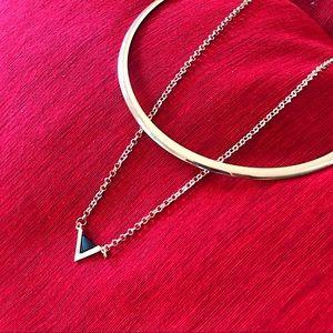 Jewelry - Neckless With Chain Enamel Triangle