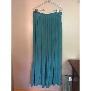 Tibi Dresses & Skirts - Silk turquoise maxi skirt