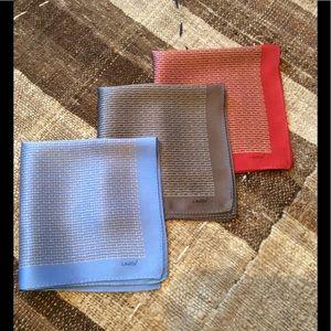 Lanvin Other - Lanvin 3 Silk handkerchiefs