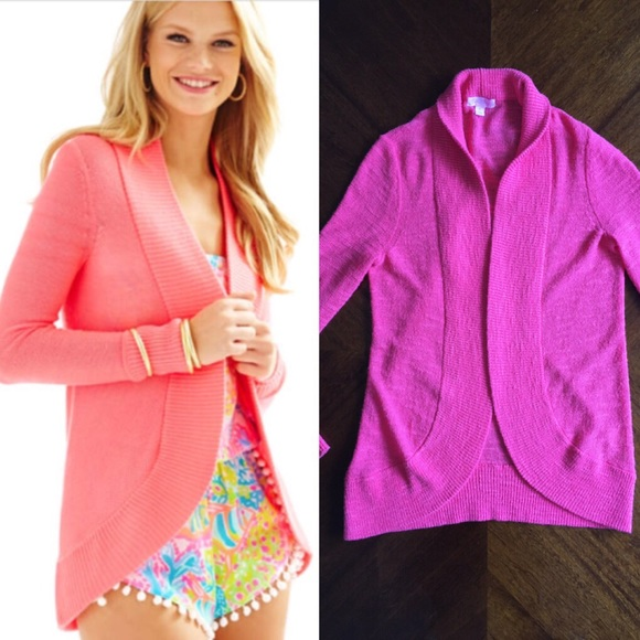 Lilly Pulitzer Sweaters Amelie Hot Pink Cardigan Poshmark