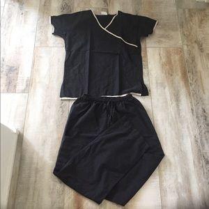 Jockey Tops - One pair of black scrubs