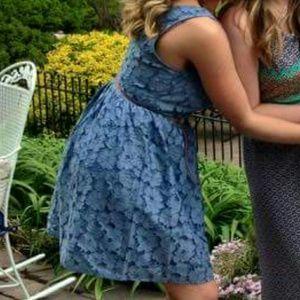 BB Dakota Dresses & Skirts - Blue Lace BB Dakota V Back Dress