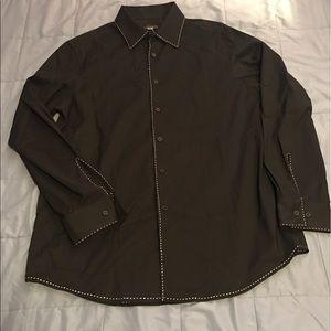 Dkny Other - MEN DONNA KARAN NY BLACK DRESS SHIRT SZ. L