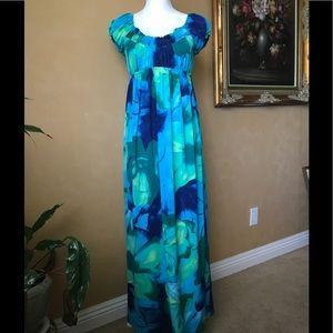 Dress Barn Dresses & Skirts - Dress Barn Turquoise Empire Waist Maxi Dress, 10