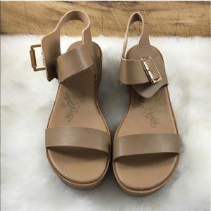 brash Shoes - BACK IN STOCK tan block platform sandals
