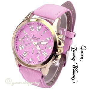 Goensshopping Accessories - Women's Pink Geneva Quartz Analog Luxury Watch