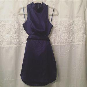 Angel Biba Dresses & Skirts - Dark Blue Mini Dress w/ Cut Out Back - NEVER WORN