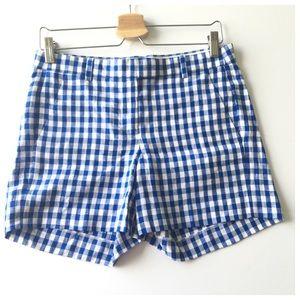 J. Crew Pants - J. Crew Blue White Gingham Patterned Shorts