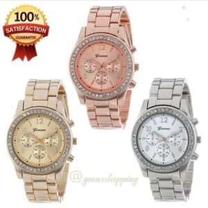 Goensshopping Accessories - Women's Luxury Chronograph Quartz Crystal Watch