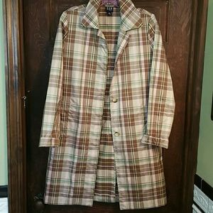 COOL GAP TAFFETA PLAID 3/4 LENGTH JKT. EUC!