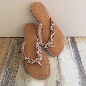 Jessica Simpson woven sandals