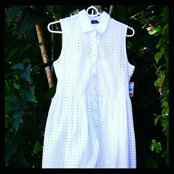 Covington Dresses - Cool Fresh Cotton Eyelet Fabric Dress