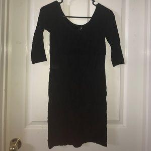 Bebe Bodycon Black Dress with Mesh