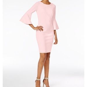 NWT Calvin Klein bell sleeve dress