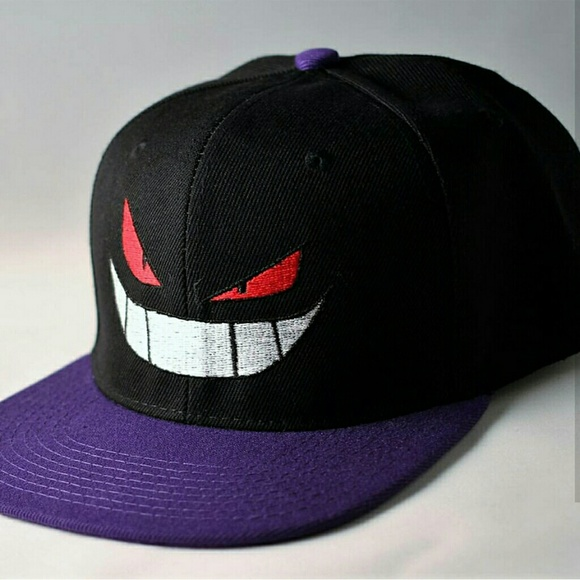 Gengar Pokemon fan made hat. Ghost dark purple 22e984310ad