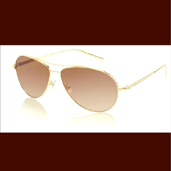 0538389190 David Yurman Waverly Sunglasses Gold