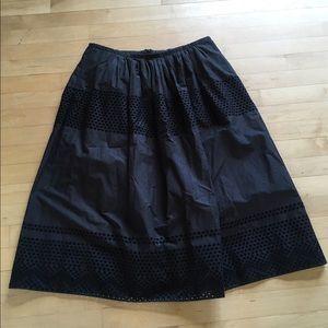 Madewell Dresses & Skirts - Madewell Black Eyelet Skirt
